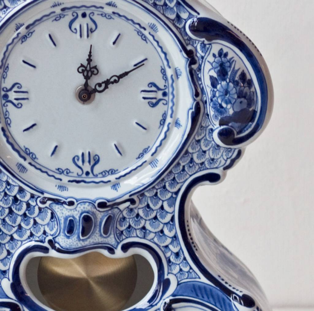 Pendule klok delftsblauw - H 40,5 cm