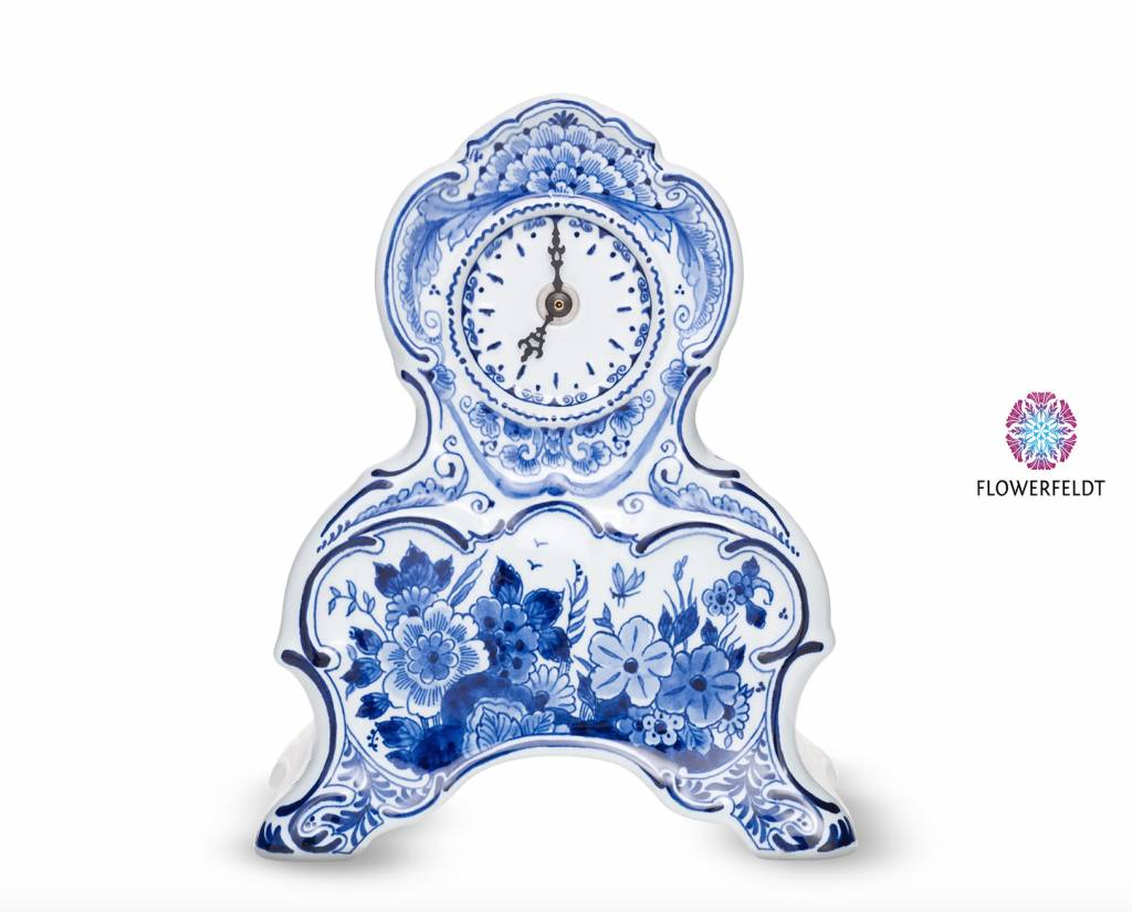 Klok delftsblauw - H 23,0 cm