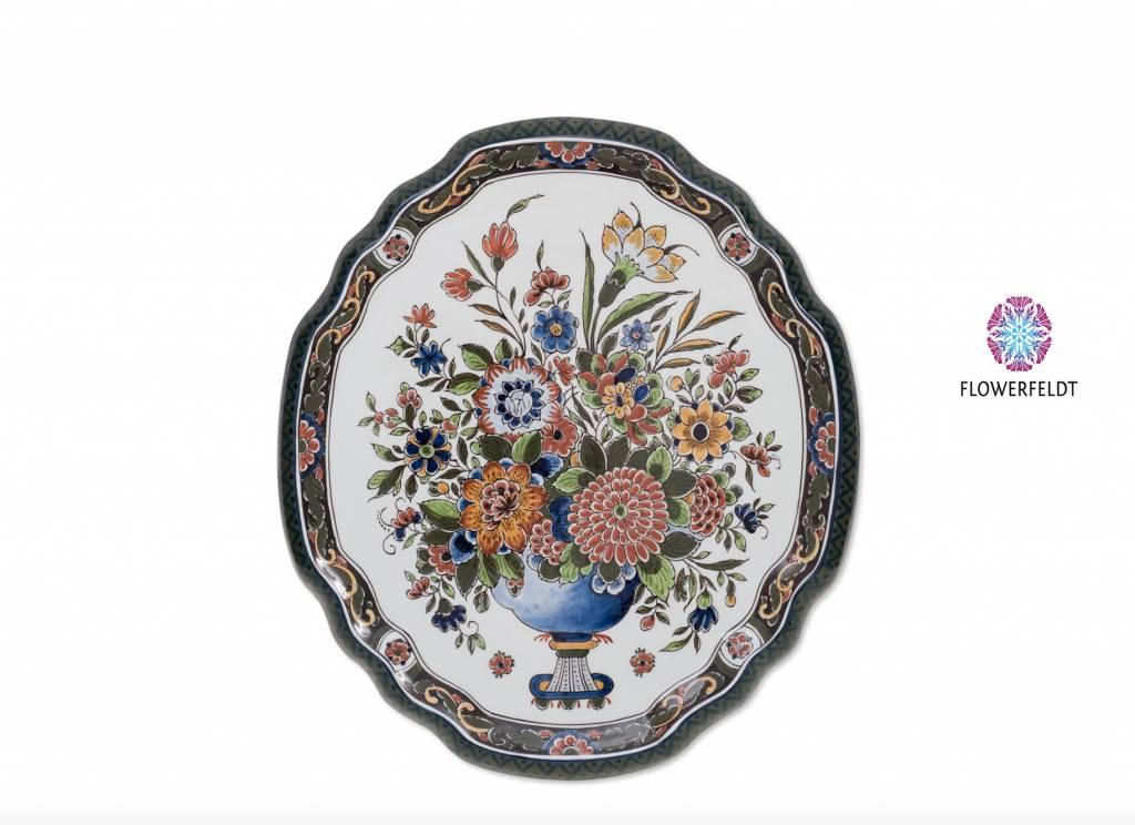 Wandbord Flower mania - 36x40 cm