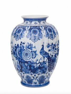 Large vase delft blue