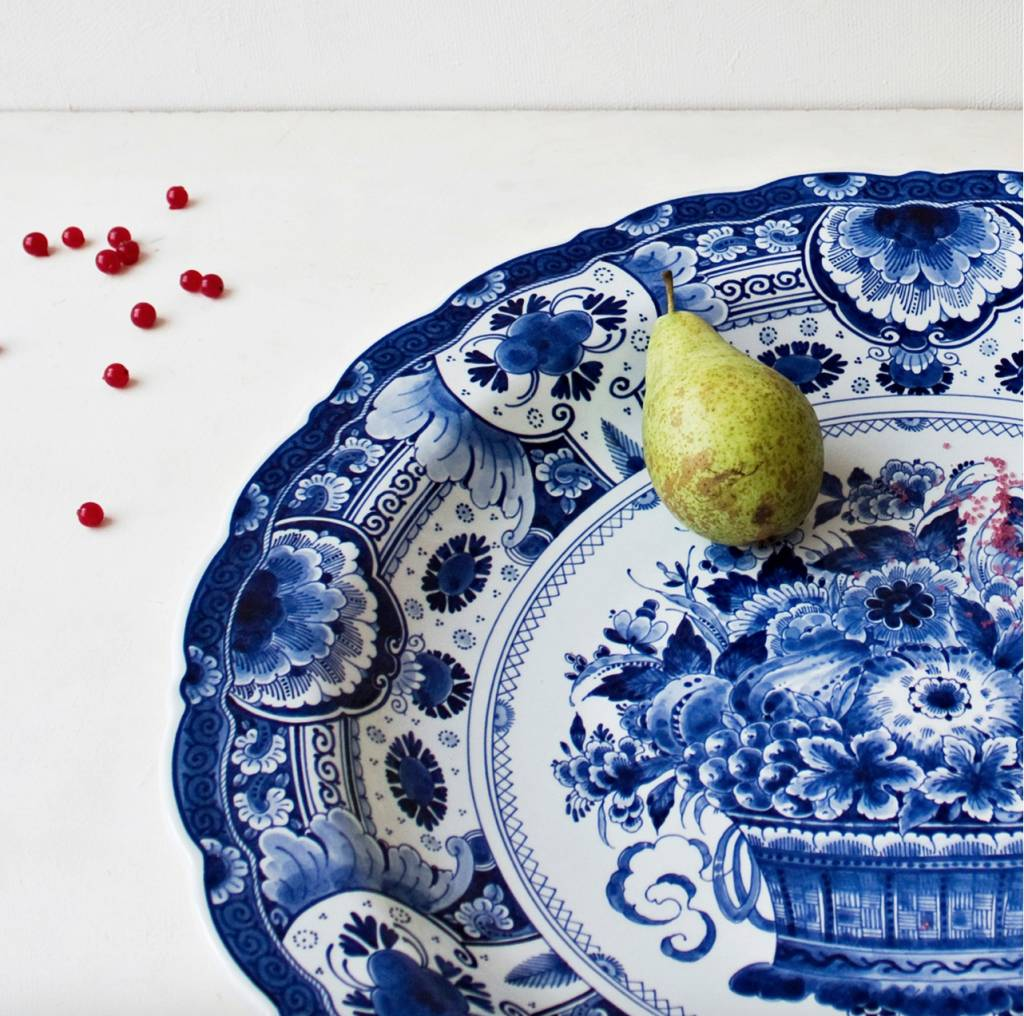 Delft blue dish - D 53 cm