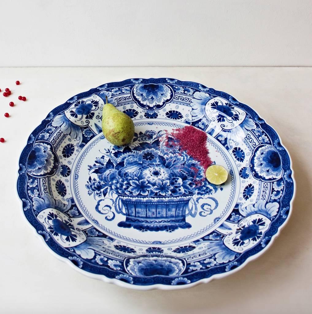 Bord delftsblauw - D 53 cm