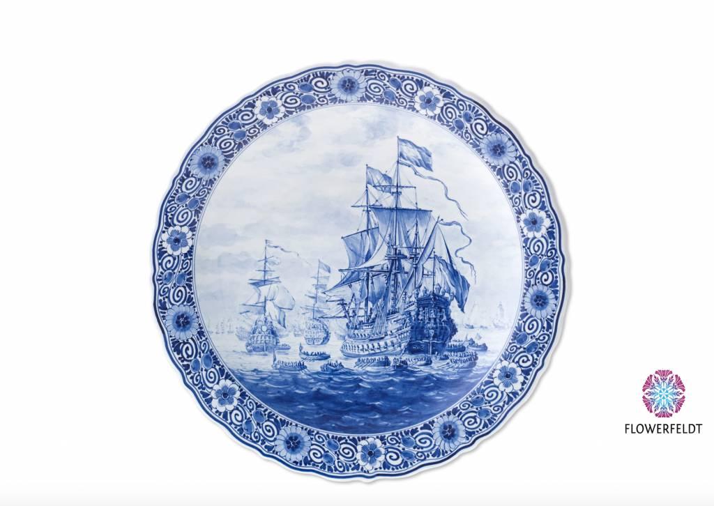 Delftsblauw bord Zeven Provincieën - D 40 cm