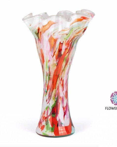 Fidrio Vase wave Mixed Colors  XXL