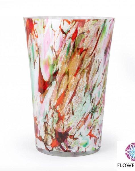 Fidrio Vaas Conic Mixed Colors - H35 cm
