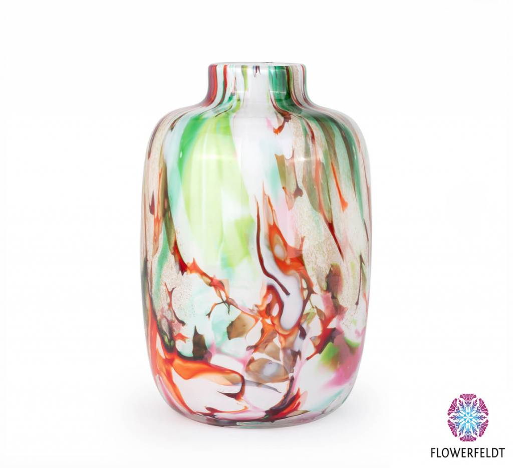 Fidrio Vase Toronto Large Mixed Colors - H27 cm