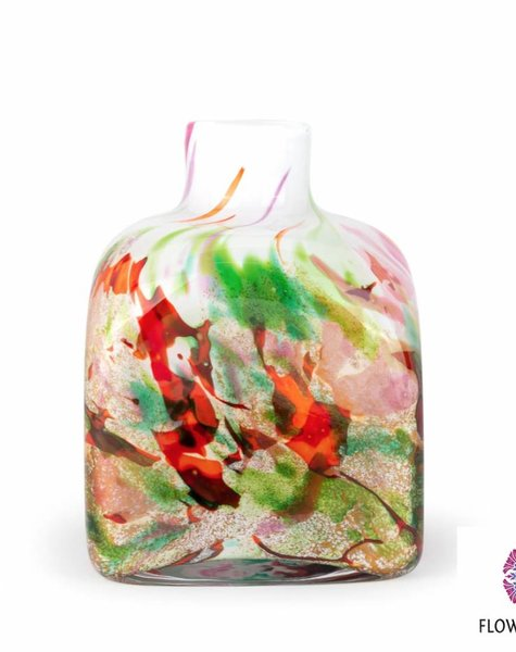 Fidrio Vase Cube Mixed Colors - H14 cm