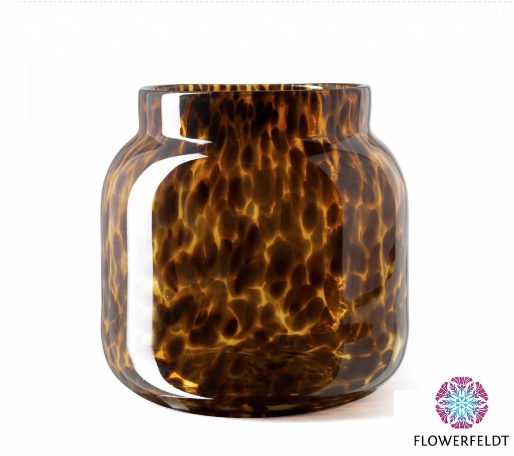 Fidrio Vase Bloom Leppard - H20 cm