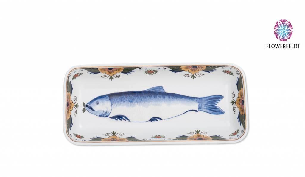 Porcelain fish plate