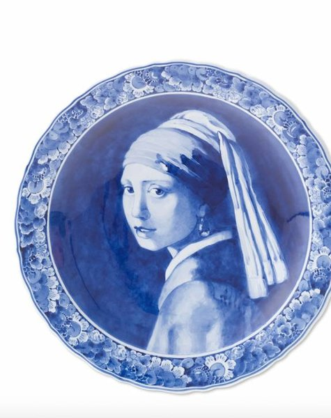 Delft blue plate Vermeer - Girl with pearl earring