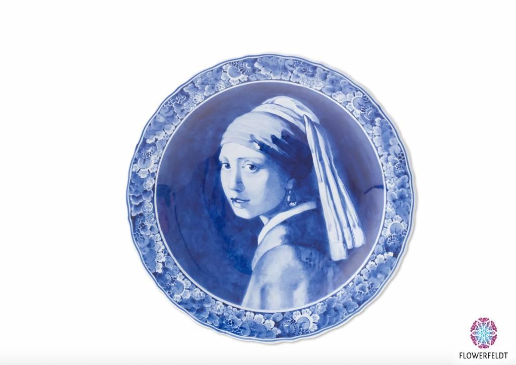 Delfts blauw bord Vermeer - Meisje met de parel