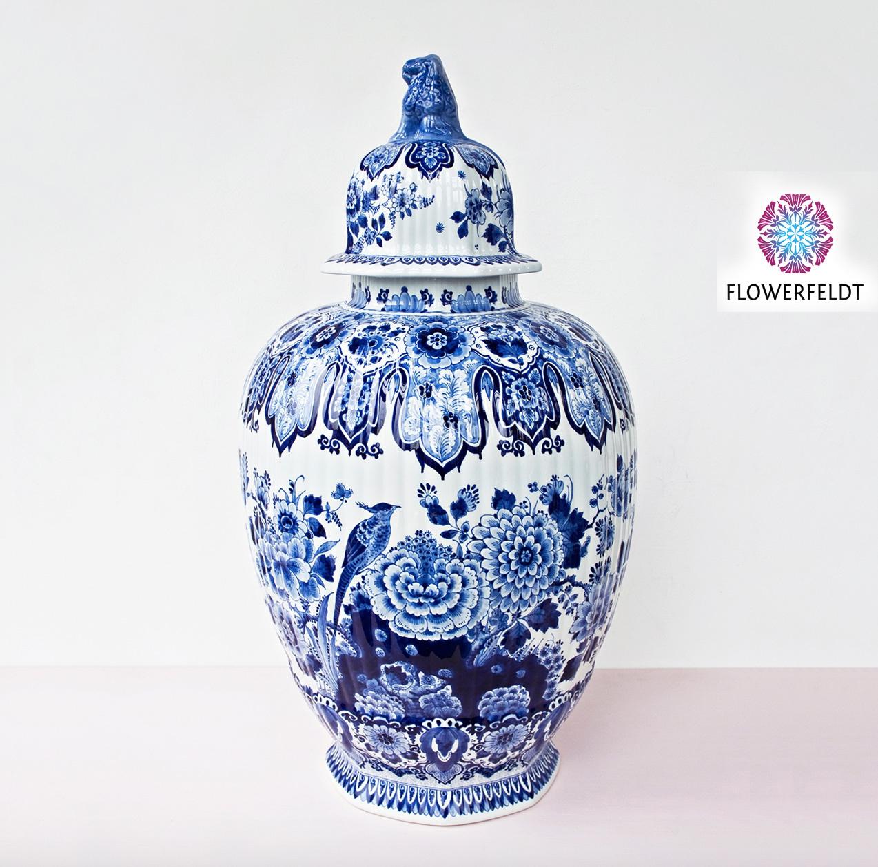 Deksel pot delfts blauw - H77 cm
