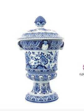 Delft Blue Satyr vase