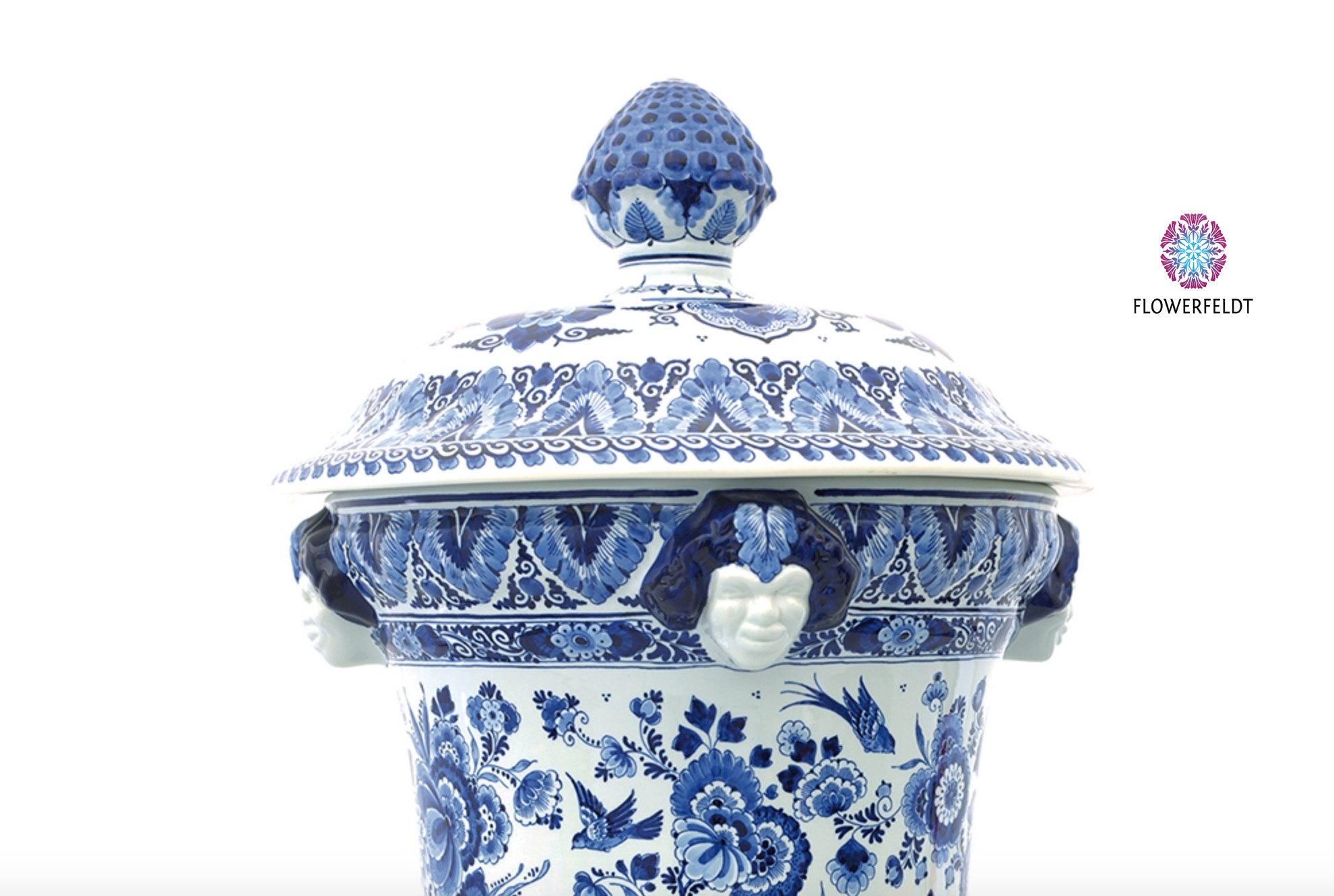Delfts blauw Satervaas - H67 cm