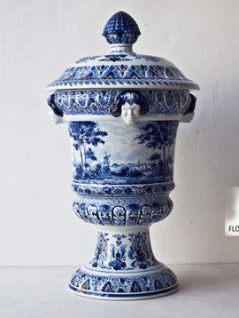 Satyr Vase Delft Blue