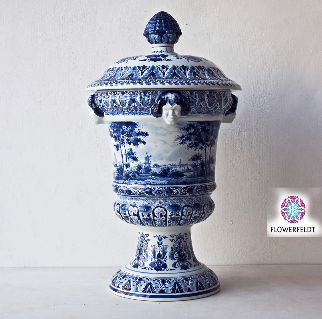 Satervase Delfter Blau - H67 cm