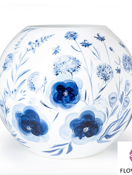 Fidrio Große Kugelvase Dutch Blue