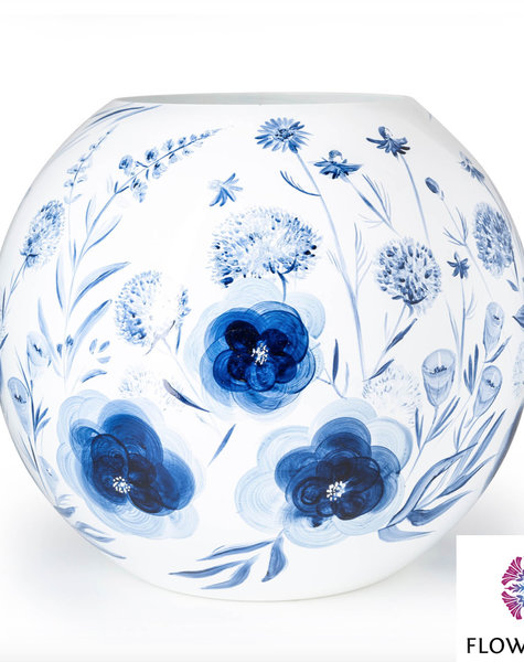 Fidrio Große Kugelvase Dutch Blue - D40 cm