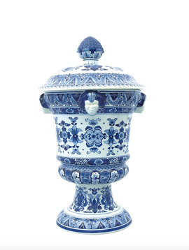 Delft Blue Satyr Vases