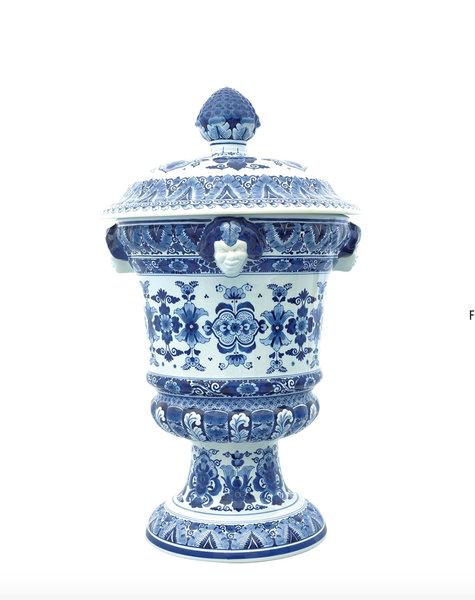 Delft Blue Satyr Vases - H67 cm