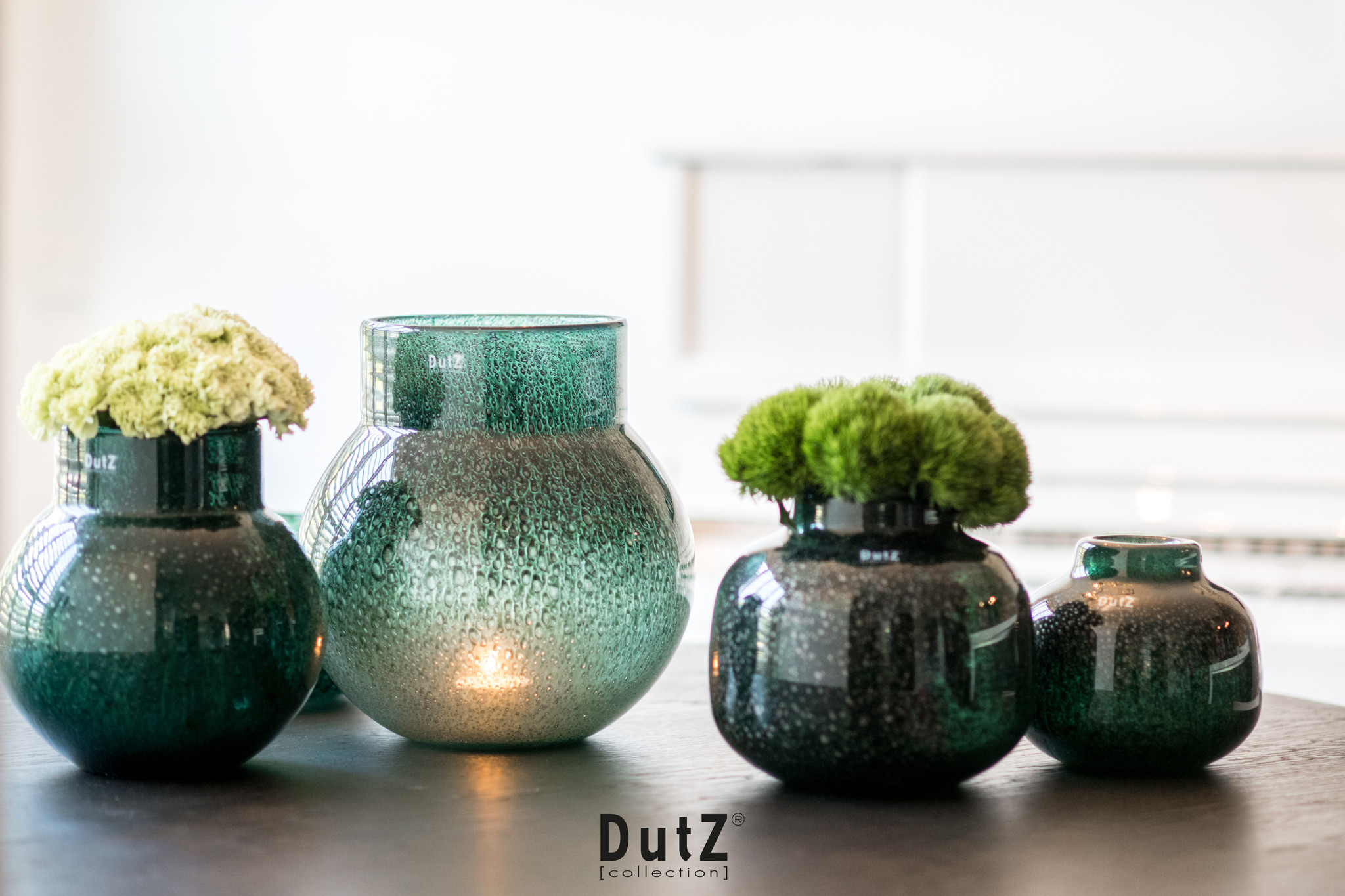 DutZ Vase fjodor darkgreen - H16/ H20 cm