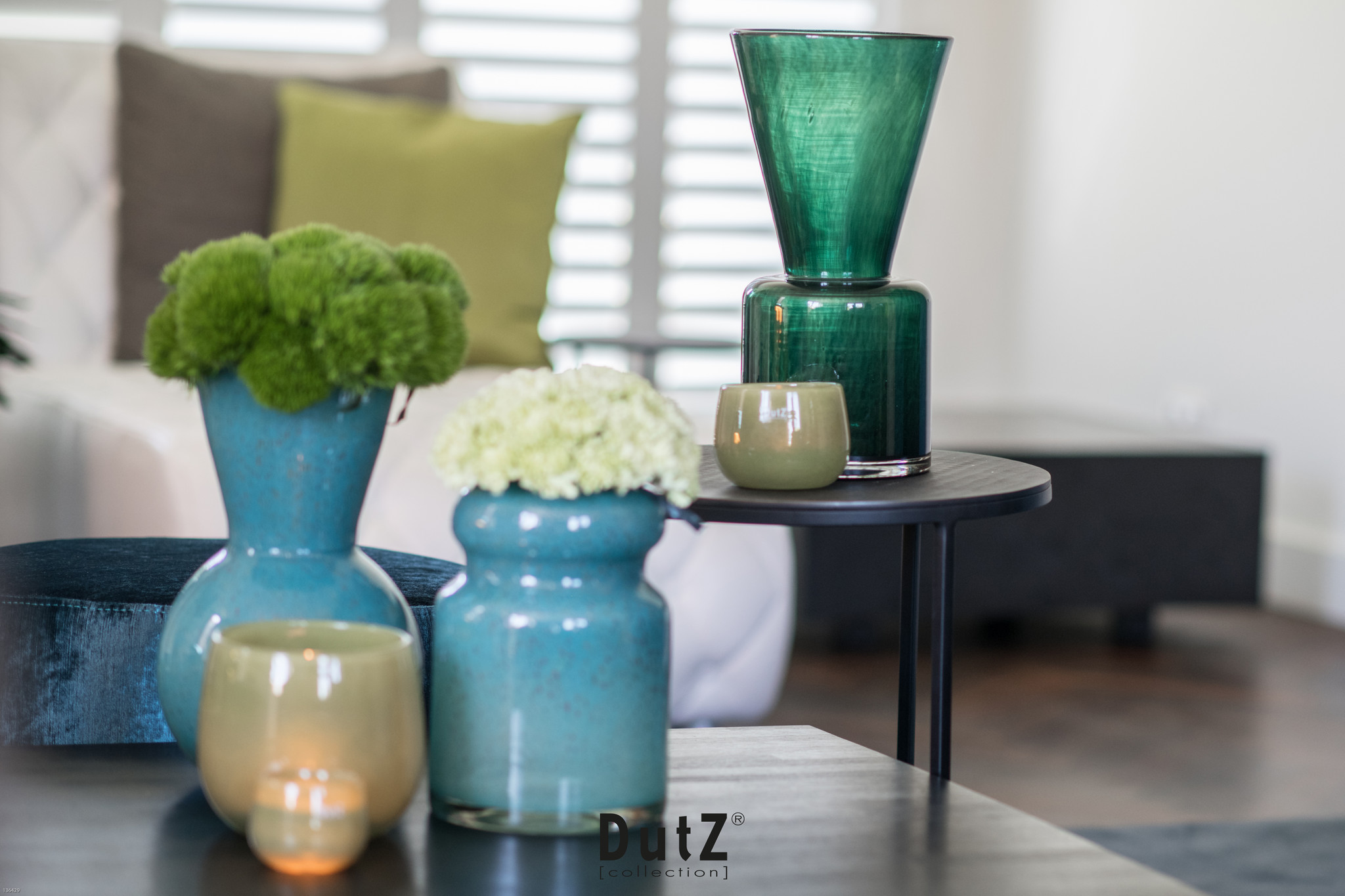 DutZ Vase louck darkgreen - H38 cm