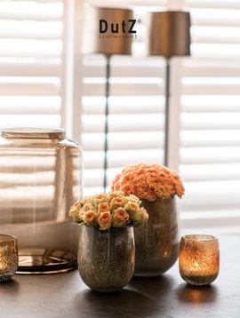 DutZ Barrel silverbrown vasen