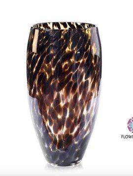 Fidrio Leopard Vase