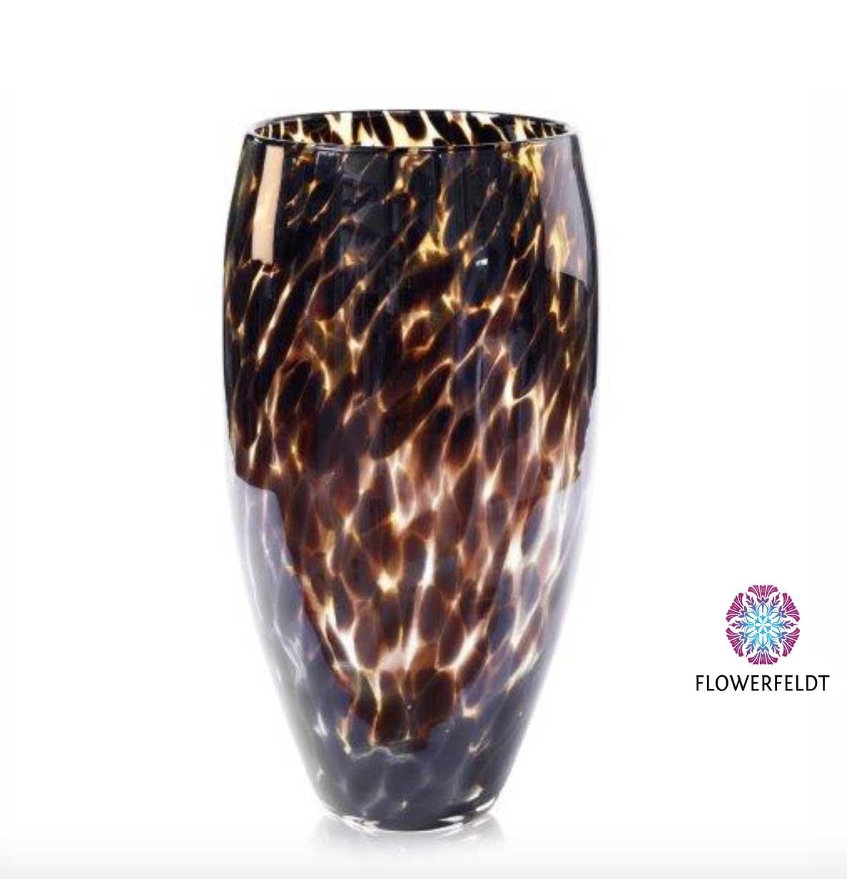 Fidrio Leopard vaas - H40 cm