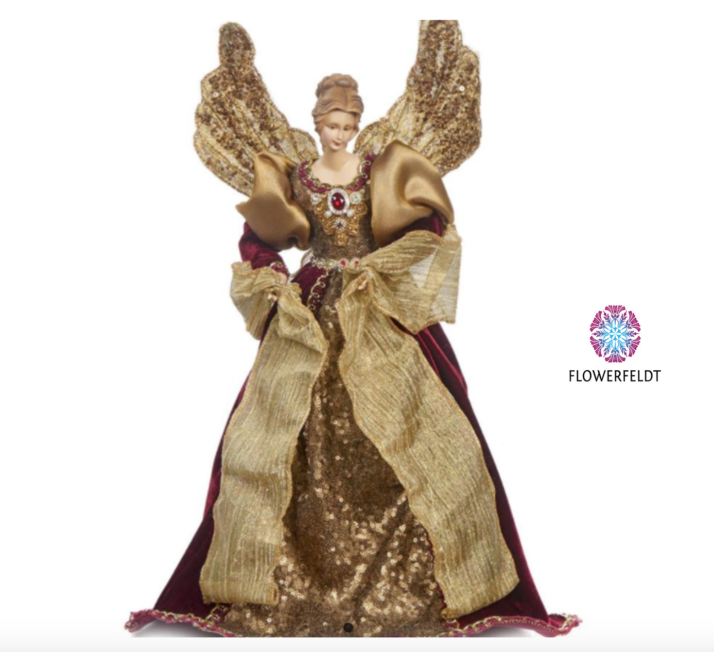 Goodwill Angel figure burgundy - H43 cm
