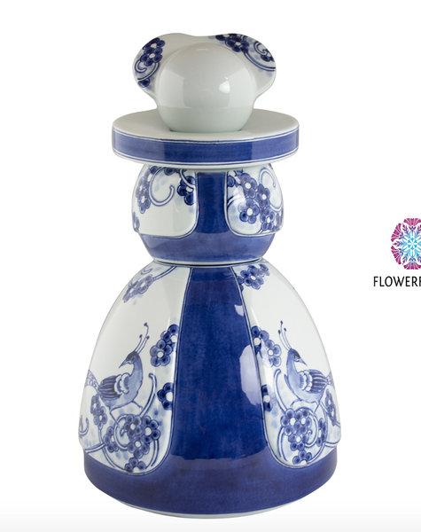 Proud Mary Flower Peacock - H30 cm