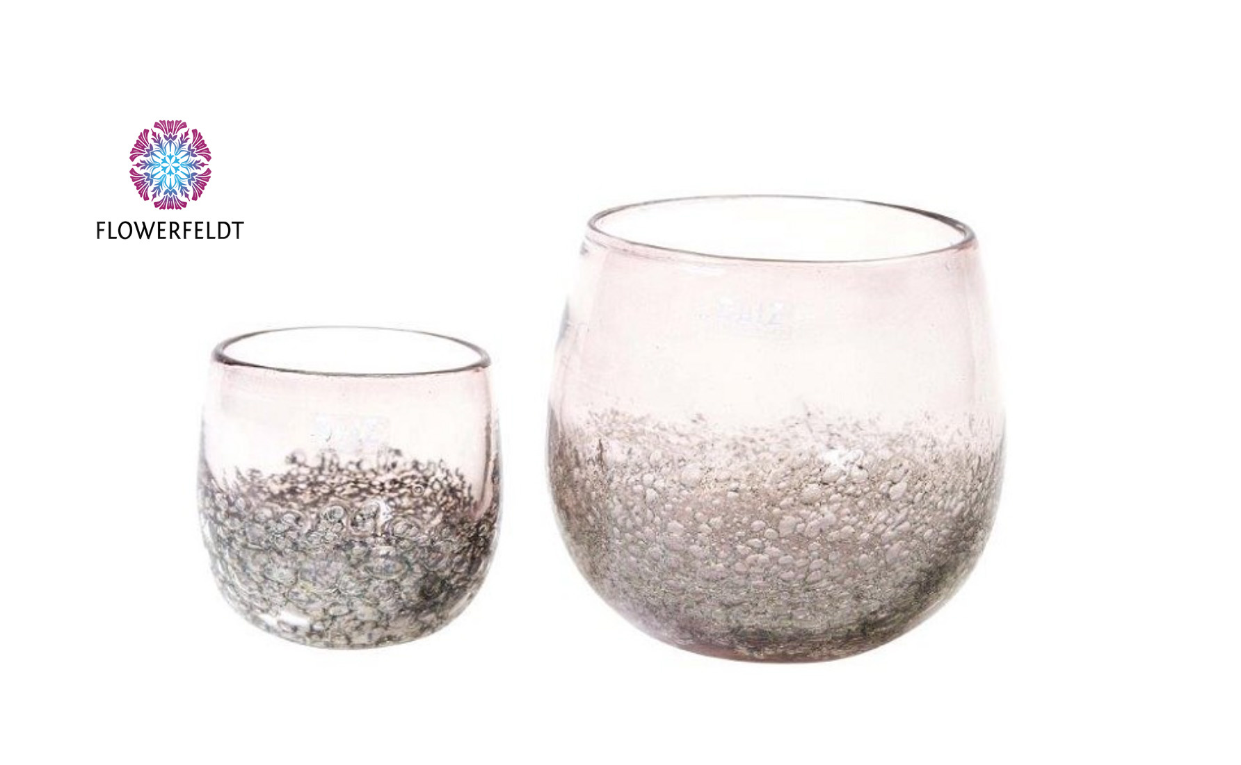 DutZ Übertöpfe aubergine bubbles - H12/ H17 cm