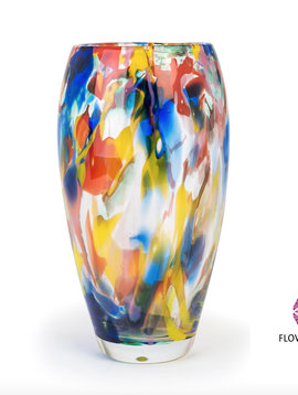 Fidrio Vase Art Colours Oval
