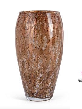 Fidrio Glazen vaas oval gold