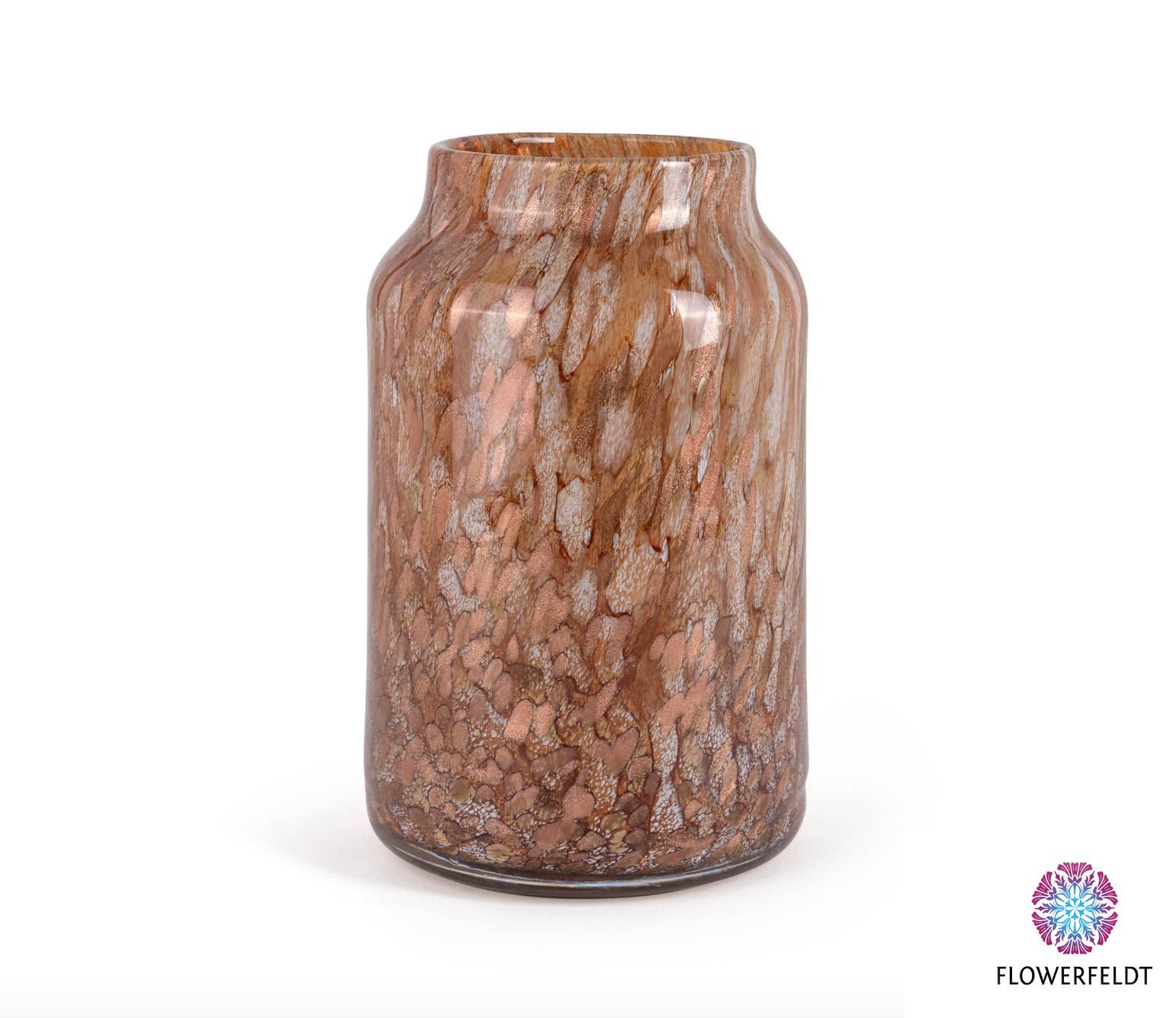 Fidrio Glass vase bloom gold - H30 cm