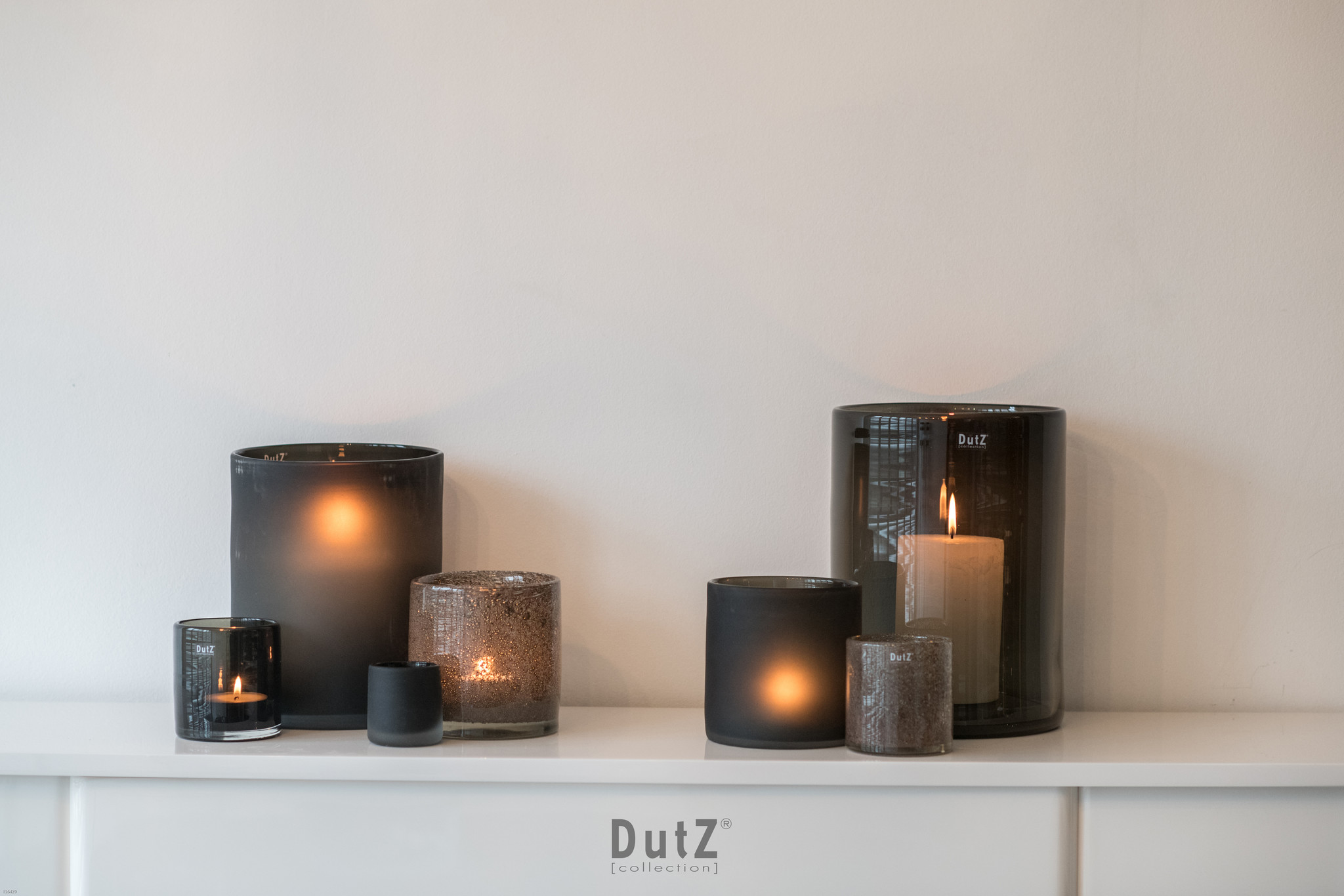 DutZ Zylinder Vase grey chips - H7 / H10/ H14/ H19 cm