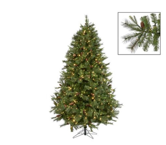 Goodwill 225 cm Christmas tree with pine cones