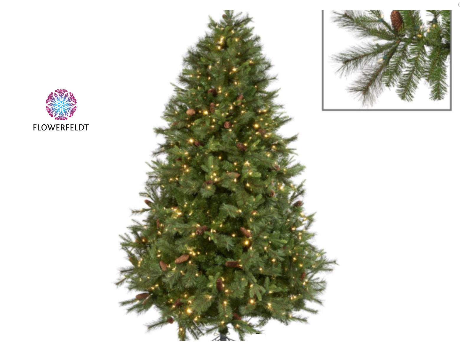 Goodwill 225 cm kerstboom met dennenappels