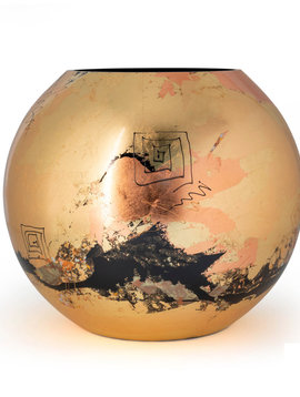 Fidrio Gold vase golden art