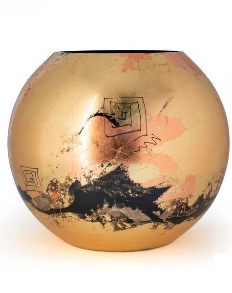 Fidrio Gold vase golden art - D25 cm