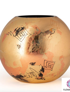Fidrio Golden vase golden art