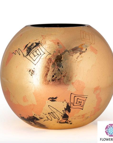 Fidrio Goldene Vasen golden art - D40 cm