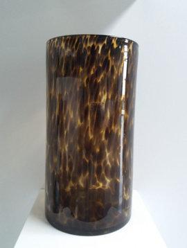 Fidrio Cylinder Vase Leopard