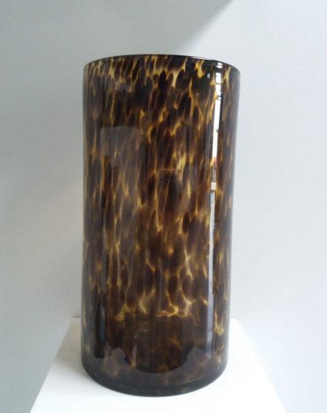 Fidrio Cylinder Vase Leopard - H35 cm