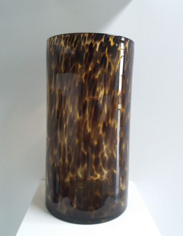 Fidrio Cilinder vaas Leppard - H35 cm