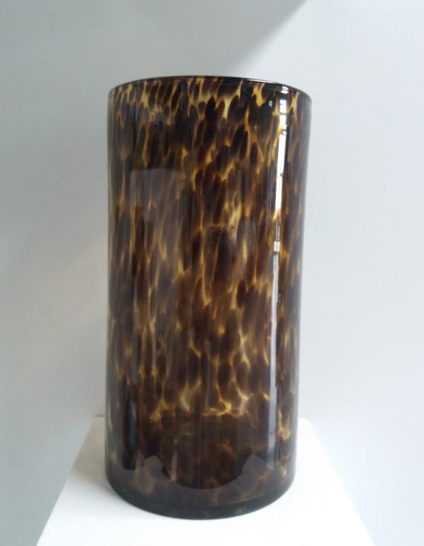 Fidrio Zylinder Vase Leopard - H35 cm