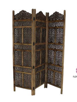 Wooden screen Marrakech brown