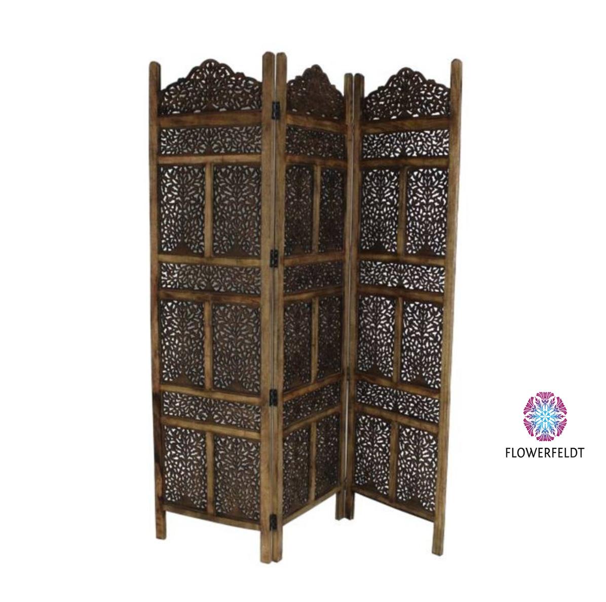 Houten kamerscherm Marrakech brown - H180 cm