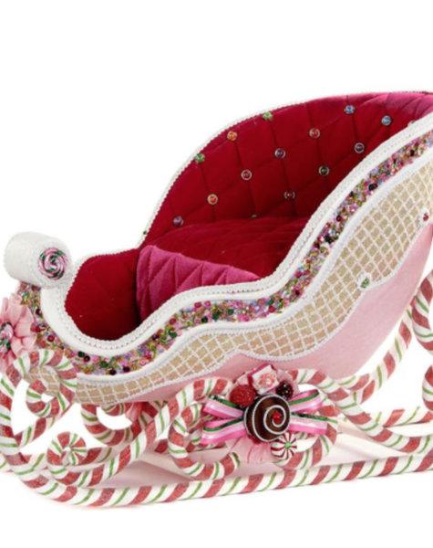 Goodwill Weihnachts Schlitten pink - H37 cm
