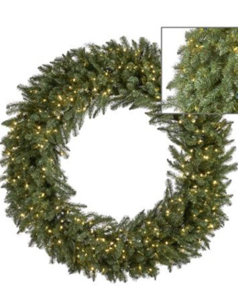 Goodwill Kerstkrans groen met LED - D152 cm